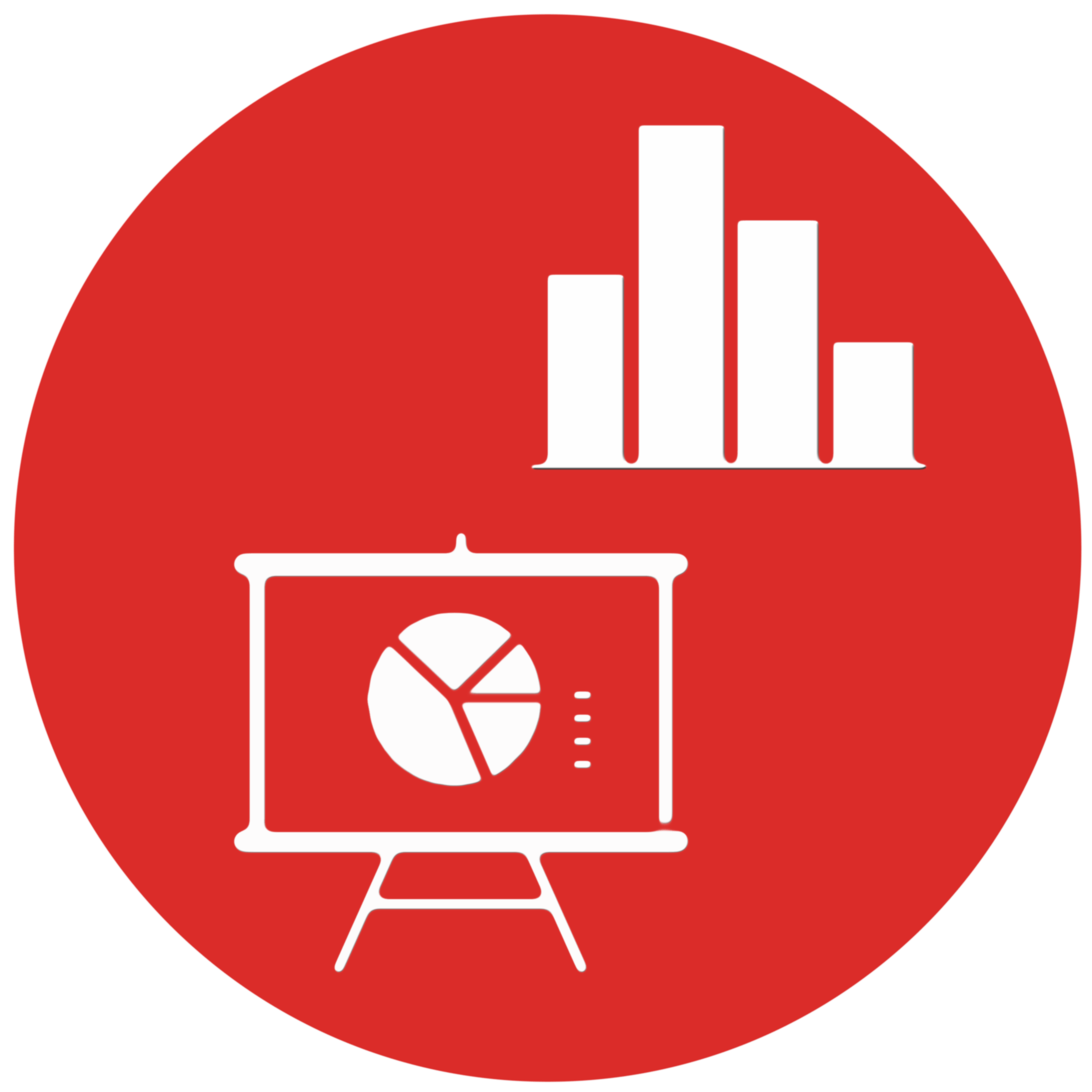 Logo of the data visualization service - represent a screen and a graph